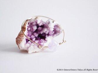 """【14KGF】Wire Bangle, Gemstone"""" Lavender Amethyst""""の画像"""