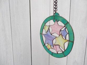 ステンドグラス(星/パープル)の画像