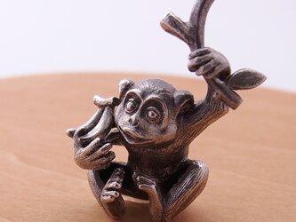 猿/シルバーペンダント/sv925/40cmAJチェーンの画像