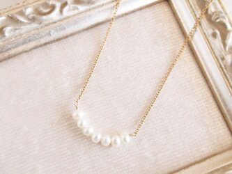 14KGF Crescent Pearl Necklaceの画像