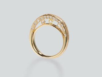 ダイヤモンド原石ブリッジリングの画像