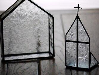 【再販】ステンドグラス キャンドルホルダー教会1の画像