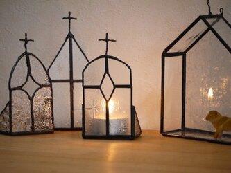 ステンドグラス キャンドルホルダー教会2の画像