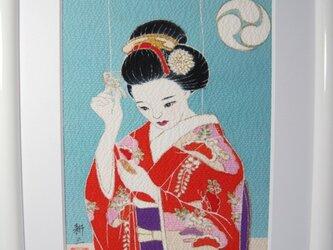 舞妓さん手描きの京友禅染 絵のみ(3)の画像