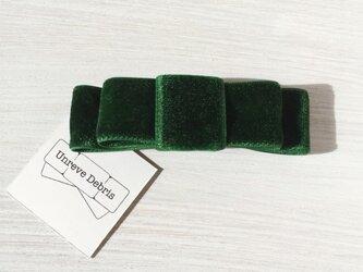 ベロアリボンブローチ グリーンの画像