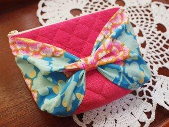 リボンポーチ Pink Frillyの画像