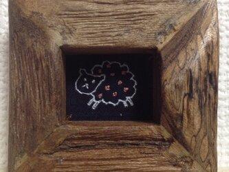 羊 まめ額入りの画像
