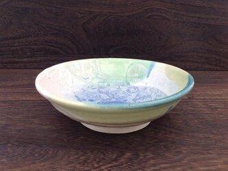 コバルトのコラージュ中鉢(きみどり)の画像