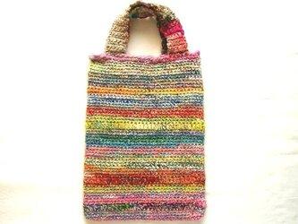 手紡ぎ糸のバッグ 346の画像