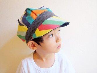 リバーシブル キャスケット サンハット -Rainbow-の画像