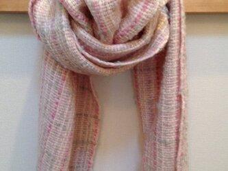 手織りマフラーの画像