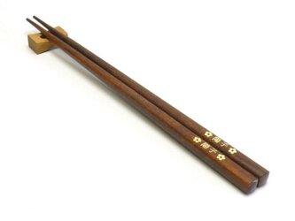 ぶなの木の名入れ箸【ブラウン】の画像