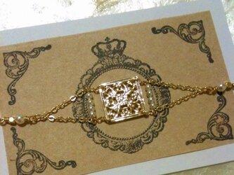 ゴールドプレートのブレスレットの画像