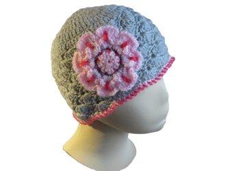 子供用 編地がかわいいやわらかニット帽子(48cm)の画像