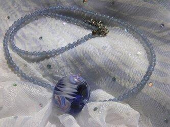 とんぼ玉ネックレスの画像