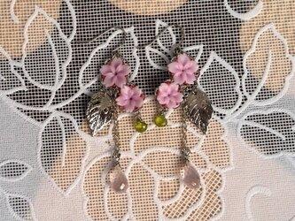 桜ピアスⅠ(イヤリング変更可)の画像