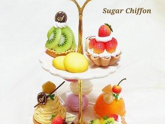 再販♡【送料無料】スイーツいっぱい♡2段のケーキプレートの画像