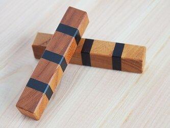 組木箸置2個セットの画像