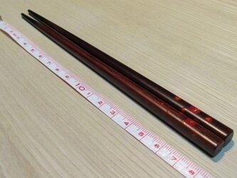 水玉花箸 朱 こども用(18cm)の画像