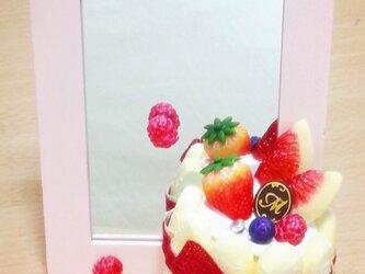 【送料無料】シャルロットケーキのスタンドミラー♡の画像