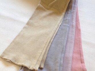 organic cottonロングレギンス べんがら色の画像