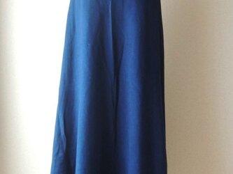 organic cotton Lakshimi skirt藍染めの画像