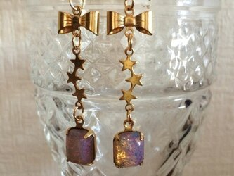 Vintage Opal Ribbon&Star pierceの画像