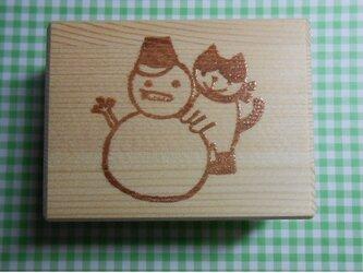 雪だるまと猫はんこ(送料込み)の画像