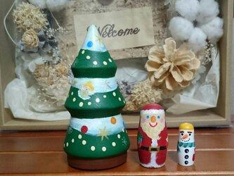 クリスマスツリーのマトリョーシカの画像