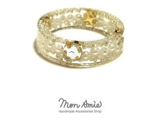 Champagne Gold Crystal Ringの画像