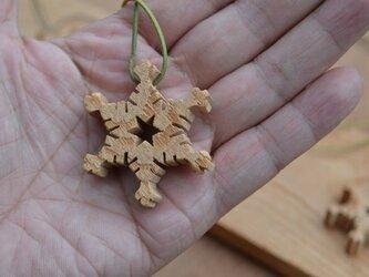 雪の華のペンダント 樹齢200年程度のケヤキ Bの画像