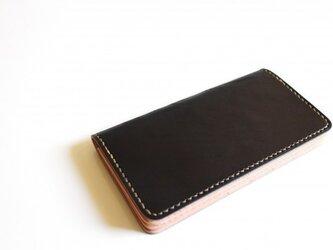 【受注生産品】長財布 ~栃木ブラックサドル×栃木サドル~の画像