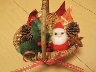 いっぱい詰め込み☆ミニクリスマス籠の画像