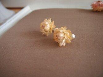 お花のピアス[花艶  Hana-Tsuya]パールキャッチ付の画像