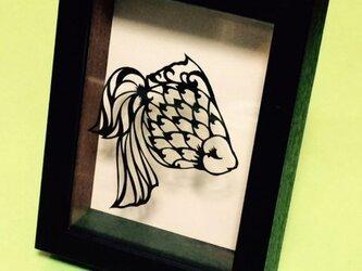 金魚 切り絵作品の画像