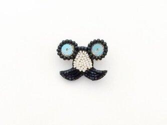パーティブローチ 鼻眼鏡(ブルー)の画像