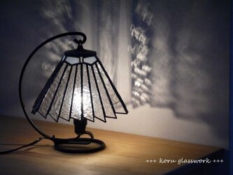 ステンドグラスランプ クリアの画像