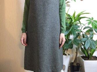 イギリスMOON社ウールツイード生地ジャンパースカートの画像