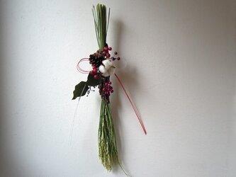 お正月飾り(リボンの水引)の画像