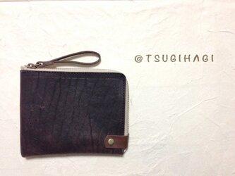 水牛革L字ファスナーの財布[ミニVer.]の画像