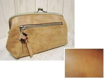 本革 がま口の長財布(受注製作)の画像