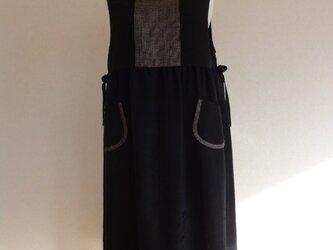 古布 黒紬ジャンパースカート(総裏付)の画像