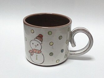 雪だるまマグカップの画像