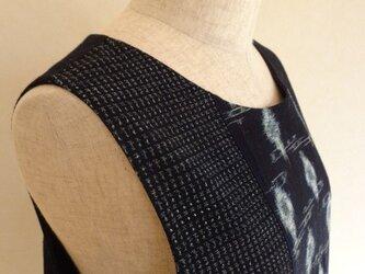 古布 かすり 縞木綿ジャンパースカート(総裏付)の画像