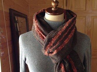 手織り イタリア製糸 ブラックの画像