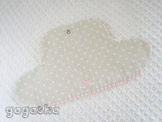 エルゴ360 スリーシックスティ ビブ グレードット ピンク リバーシブルの画像