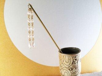 真珠◇真鍮かんざしの画像