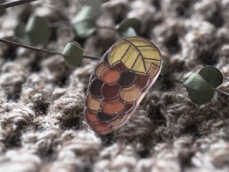 grape drop/ブローチの画像