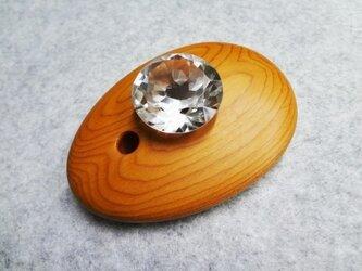 月の女神の勾玉&ダイヤカットの本水晶30の画像