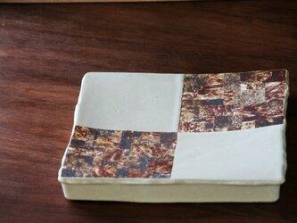 白釉七寸台皿(puzzle)の画像